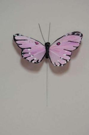 Sommerfugl Lyserød - sommerfugl på pind - Sommerfugl lyserød og sort
