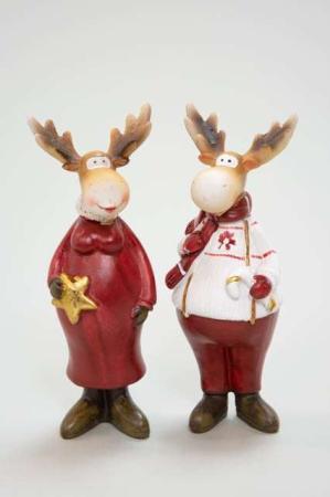 Elgefar og elgemor - Elgepar julefigurer