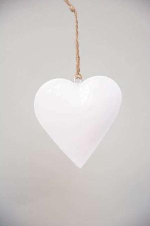 Hjerte i metal til ophæng - Metal hjerte med jutesnor - Julepynt 2021