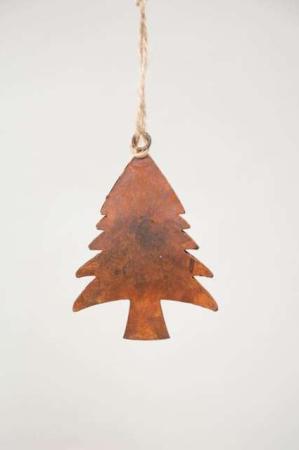 Juletræ til ophæng - Juletræ i rust - Juletræspynt 2021