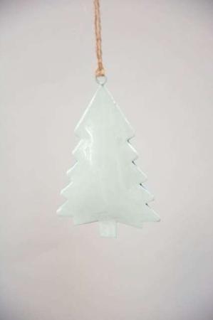 Juletræspynt 2021 - Juletræ i metal - Juletræ støvgrønt
