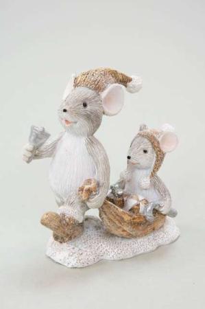 Legende mus i sneen - Julemus med huer - Julefigur mus