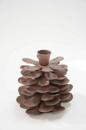Lysestage kogle - Stage i brun