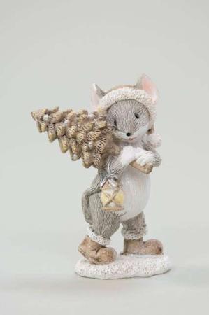 Mus med juletræ - Julefigur mus
