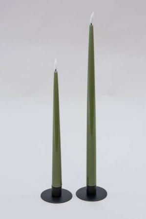 Olivengrønne LED laklys - Real Flame lak lys - Dinner candle stagelys