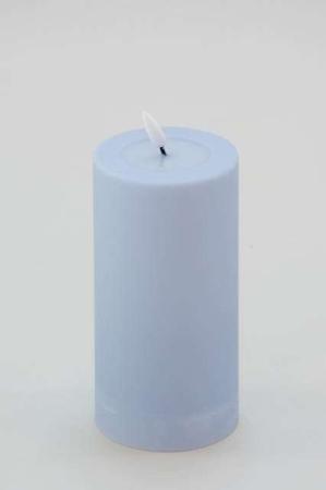 Real Flame LED bloklys - Udendørs LED bloklys - Støvet blå udendørs bloklys