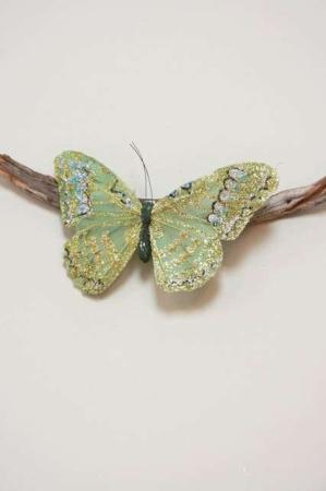 Sommerfugle på clips - Sommerfugl grøn - Sommerfugl lille