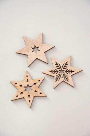 Stjerner til bordpynt - Stjerner til indpkning - Stjerner i træ