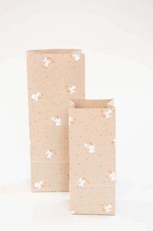 gavepose med motiv af engle - Klodsbundspose til indpakning