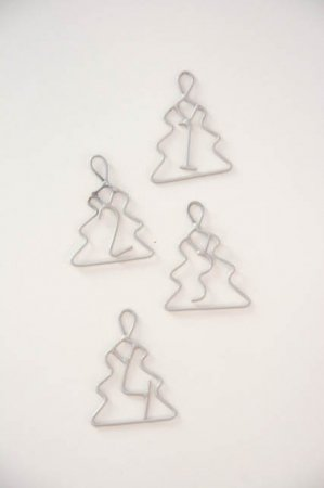 Adventstal i grå - Adventstal juletræsformet - Julepynt 2021