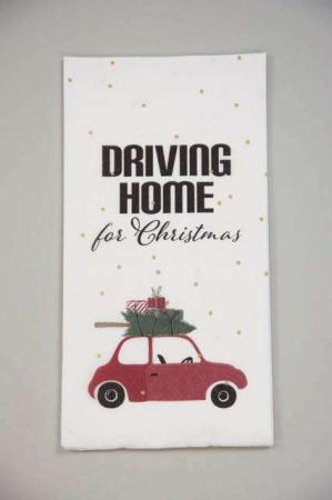 Buffet serviet - Driving home for Christmas - Serviet til jul