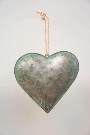 Irret grønt hjerte - Grønt hjerte til ophæng - Julepynt 2021