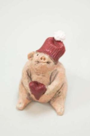 Julegris fra Nääsgränsgården - Julegris med hjerte