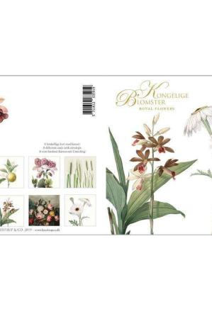 Kongelige blomster - 8 kort med kuvert