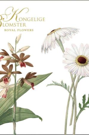 Kvadratisk mappe med kort- Kongelige blomster