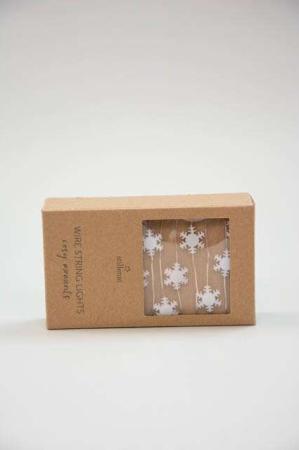 LED lyskæde med snekrystaller - Julepynt 2021 - Lyskæde indendørs