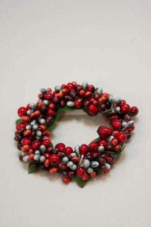Lysmanchet med grå og røde bær - Lysmanchet med små bær