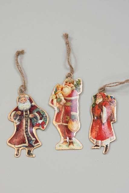 Metalornamenter til juletræet - Julemænd til juletræet - Juletræspynt