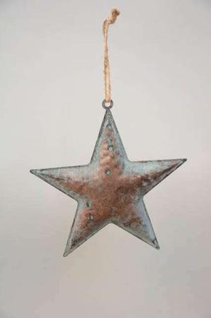 Metalstjerne irret grøn - Stjerne til ophæng - Julepynt 2021