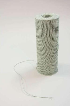 Papirgarn støvgrøn - Papirgarn til indpakning - Bånd til dekoration