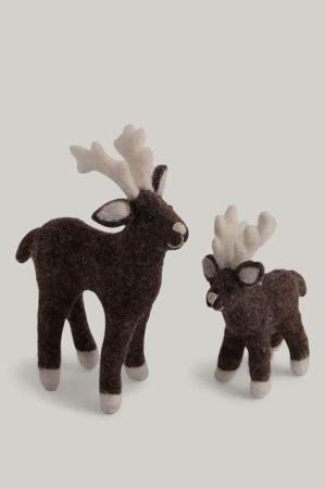 Rensdyr af filt - Julepynt filt - Én Gry og Sif