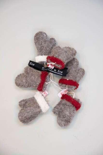 Handsker af filt - Julepynt filt - Én gry og Sif