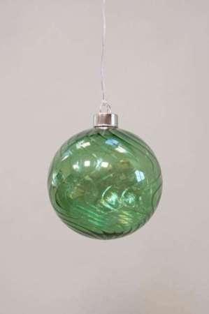 Julekugle grøn til ophæng - Julekugle glas til ophæng
