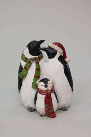 Pingvin familie - Julefigur pingviner