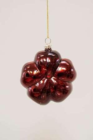Rød blomst julekugle - Julekugle til juletræet